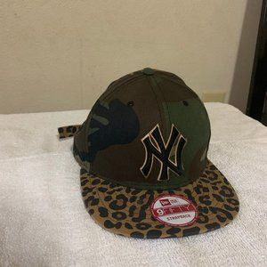 New York Yankees Camouflage Leopard Strapback Hat